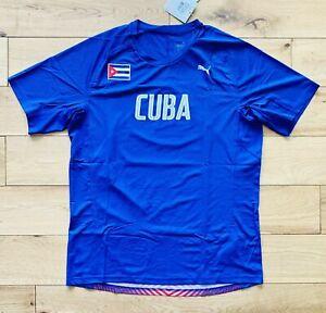 Puma Cuba Men's Running Graphic T-Shirt Top Tee New Blue 514352 ...