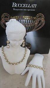 Buccellati 18k Gold Pearl Set :Necklace, Earrings,Bracelet. New