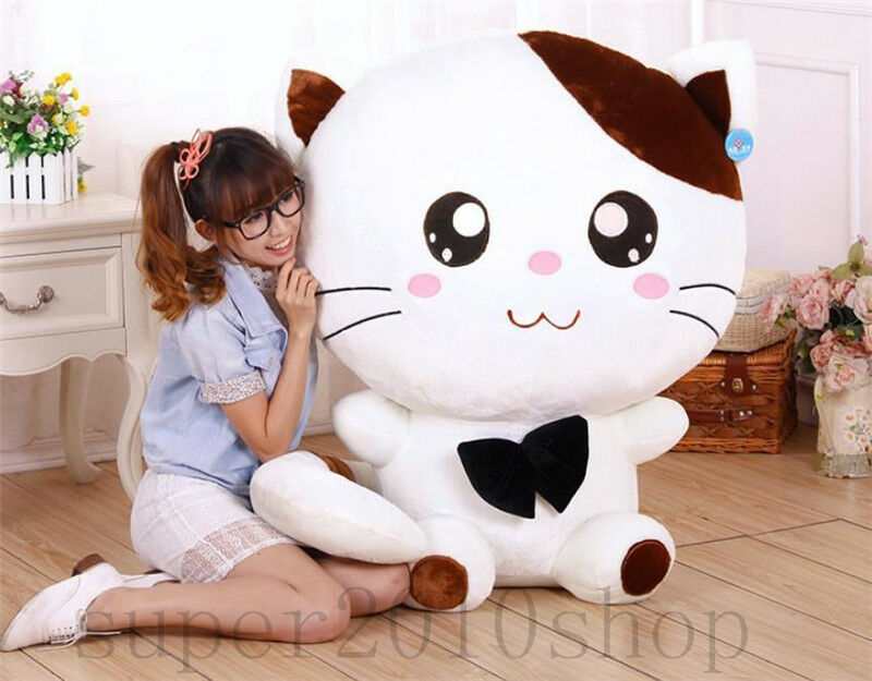 39'' San-x Nyan Nyan Nyanko Plush Cat Stuffed Animal Soft Doll Cushion Kid Gifts