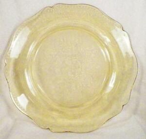Amber-Patrician-Depression-Glass-Dinner-Plate-Spoke-Federal-11-in-Nice-Cond-2