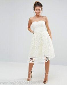 Boda eur40 London Chi Vestido Lace Cream Ball de Uk12 noche us8 gRzq0g