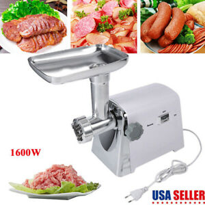 Home-Commercial-Meat-Grinder-Electric-Mincer-Sausage-Filler-Maker-1600W-Tool-Kit