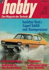 hobby,Magazin 18/1971,Ford Capri 2600 Kompressor,Österreichs erste DC-9, Laser