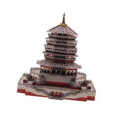 3D Metal Puzzle Leifeng Pagoda Tower History Architecture Model Jigsaw Toy B
