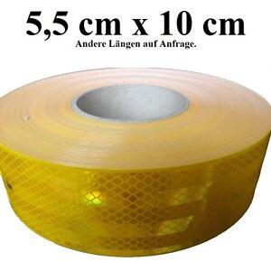 12-00-m-10cm-Geocaching-selbstklebende-3M-Reflektorfolie-gelb-Diamond-Grade