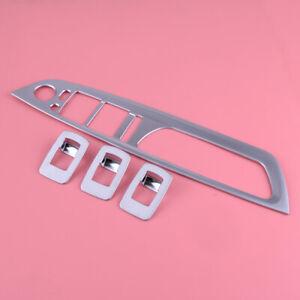 Silber-ABS-Tuer-Fensterschalter-Abdeckung-Blende-passt-Fuer-BMW-X5-E70-X6-E71
