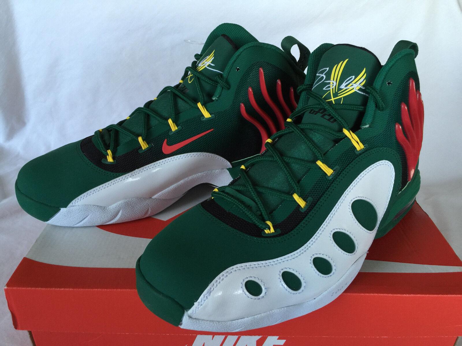 Nike sonic volo supersonics 641333-300 payton, scarpe da basket nba nuovi uomini 9