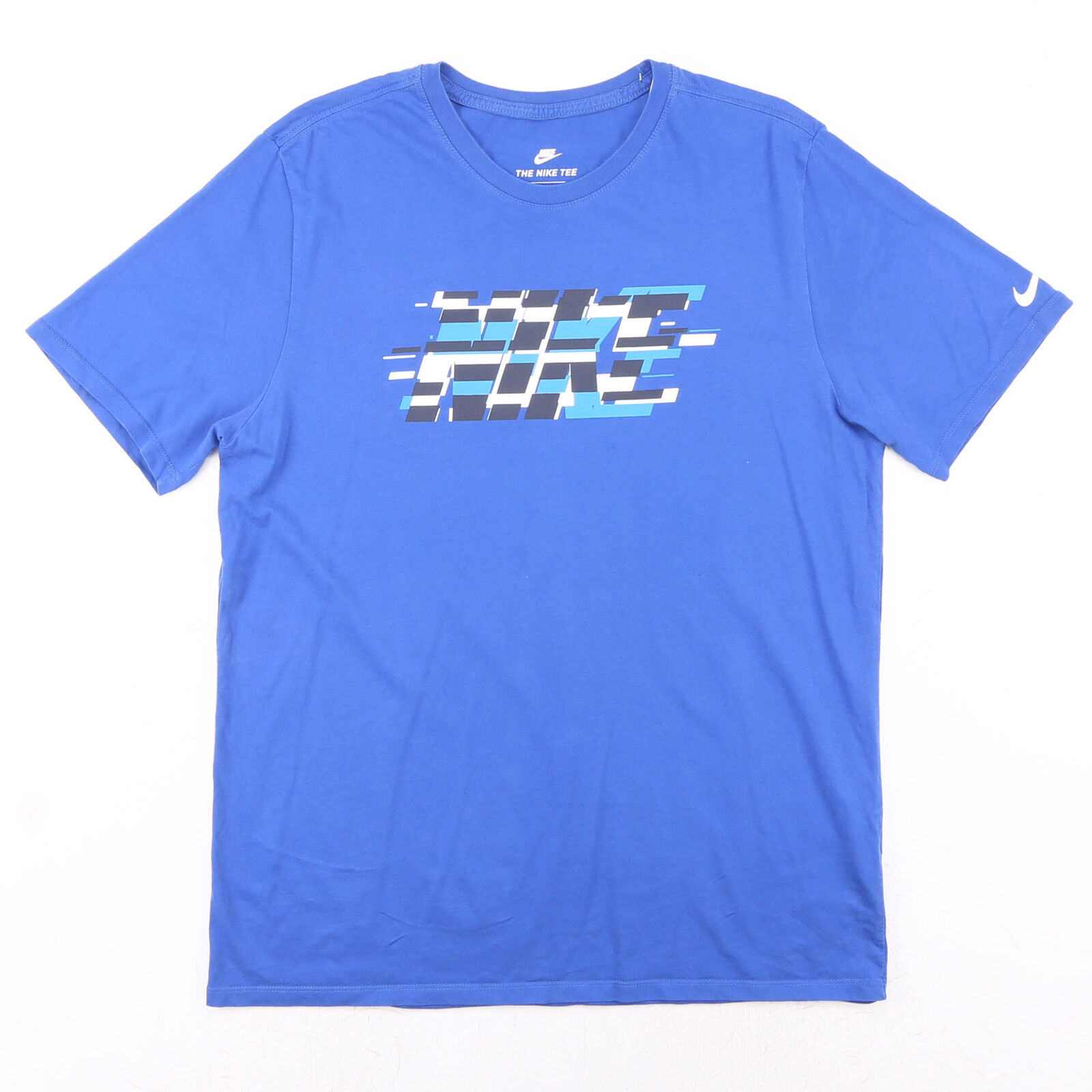 NIKE Blue 00s Crew Neck Short Sleeve T-Shirt Mens L