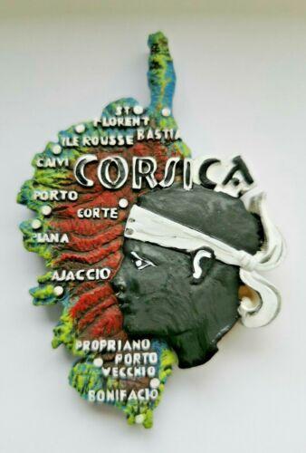 Corse carte FRANCE ISLAND 3D Résine tourisme vacances Souvenir Aimant