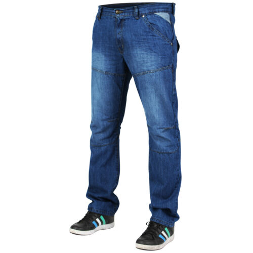 Mens Regular Fit Straight Leg Denim Jeans Pants Big Tall All Waist Size Trousers