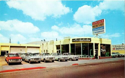 CA Santa Ana Photo Knickerbocker/'s Inc Lincoln-Mercury C ca 1960 B