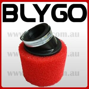 RED-37mm-38mm-Bent-Angled-Foam-Air-Filter-Pod-125cc-PIT-Quad-Dirt-Bike-ATV-Buggy
