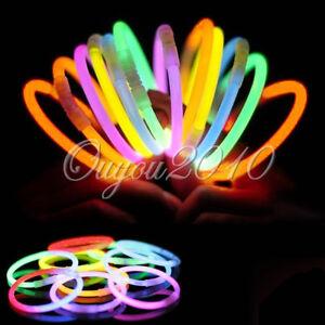 100-X-Multi-Color-Glow-Stick-Light-Bracelets-Necklace-Party-Favor-Fun-Toy-Packs