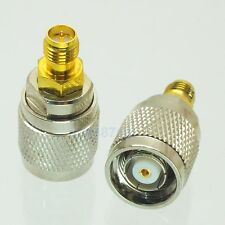 1pce Adapter RP.TNC jack male to RP-SMA plug female RF connector straight