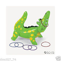 Birthday Party Luau Mardi Gras Game Activity Inflatable Alligator Ring Toss