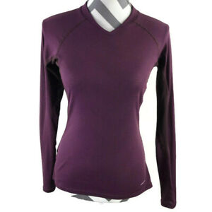 Patagonia-Womens-Small-Purple-Long-Sleeve-Waffle-Thin-Top