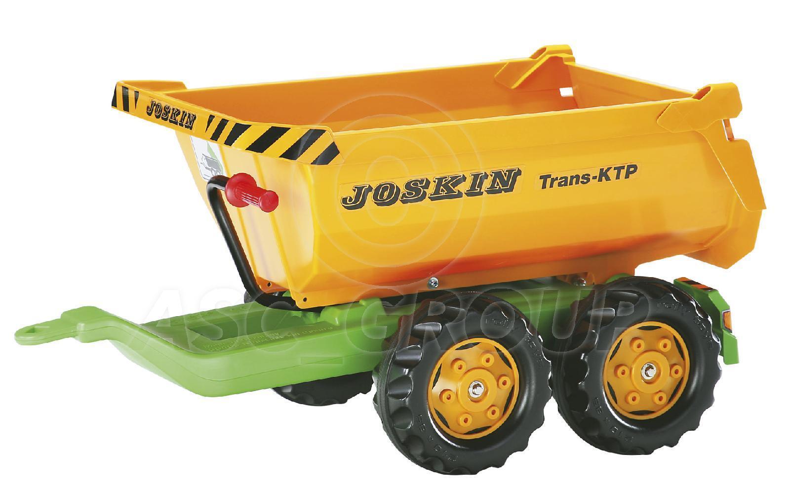 Rolly Toys - Grande Joskin Halfpipe Remolque Volteo Doble Eje para Tractores