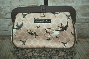 PETUNIA-PICKLE-BOTTOM-SPARROWS-ON-THE-SEINE-CROSS-TOWN-CLUTCH-BAG-EUC