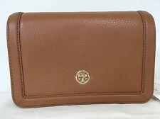 Sale!NWT Tory Burch Landon Combo Leather Crossbody Tan/Bark $395