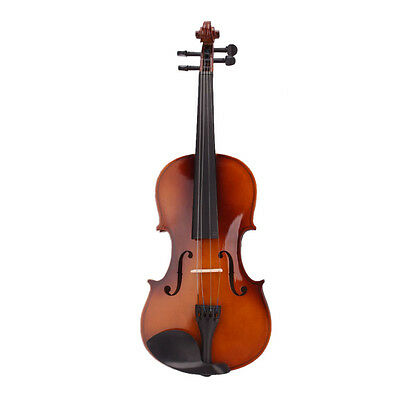 4/4 Full Size Natural Acoustic Violin Fiddle with Case Bow Rosin V3X