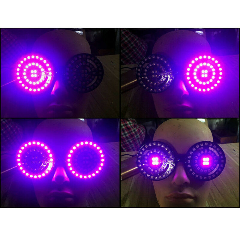 REZZ DJ 88 LEDs Light Glasses Glasses Glasses Party Night