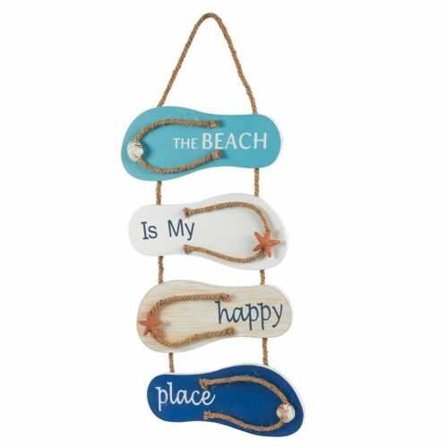 Wall Decor Flip Flop Sandals Hanging Beach Ocean Nautical Home Living Room New
