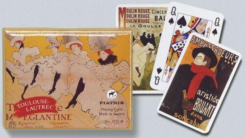 Toulouse Lautrec Double Deck Bridge Size Playing Cards by Piatnik