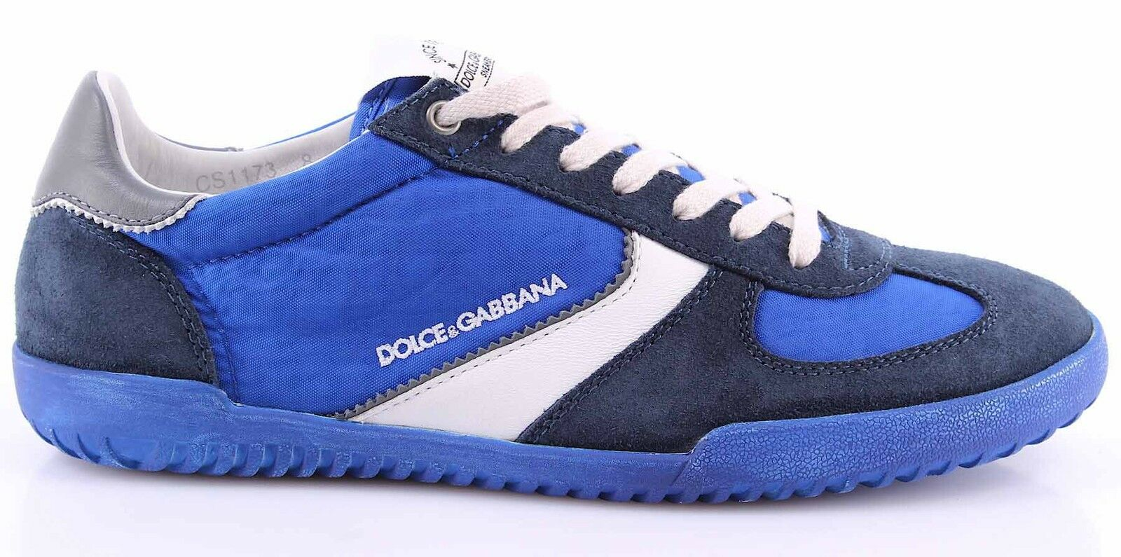 Men's Sneakers Shoes DOLCE & GABBANA Suede Canvas Bluette