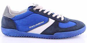 Caricamento dell immagine in corso Scarpe-Sneakers-Uomo-DOLCE-amp-GABBANA -Camoscio-Tela- 9e7234c6f48