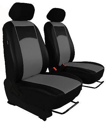 Angepasst Wasserdicht Schwarz Vordere Hintere Sitzbezüge für Nissan Navara NP300