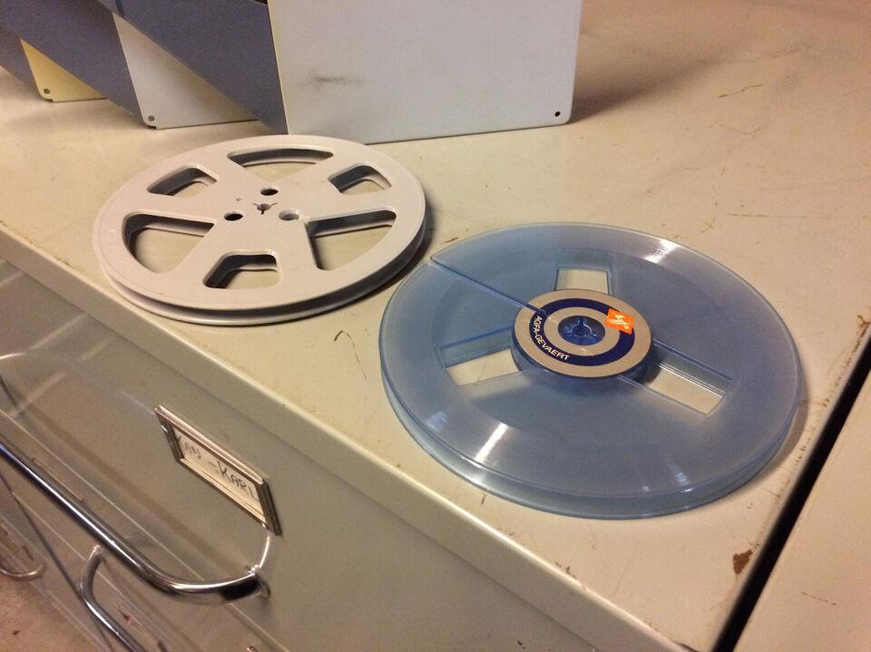5 x 18 cm spolebånd med kassette + 2 x spoler