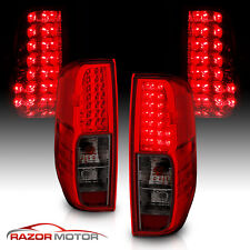 For 2005 2017 Nissan Frontier Red Smoke Led Rear Brake Tail Lights Lamps Pair Fits 2011 Nissan Frontier