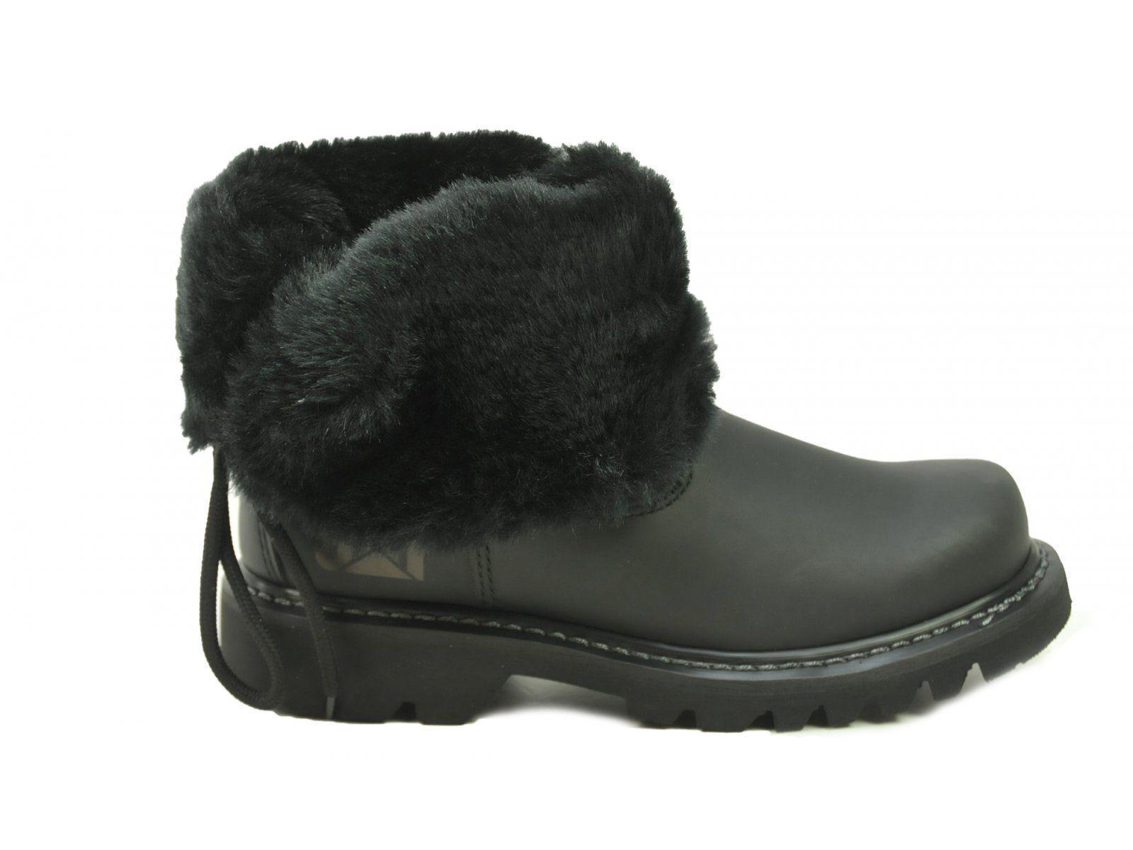 Tamaño 8 Gato trabajo para Mujer Informal De Piel Bruiser Scrunch botas De Invierno Negro P307019