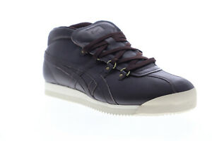 Onitsuka-Tiger-Schanze-72-D7E4L-2929-Mens-Brown-Leather-Lifestyle-Sneakers-Shoes