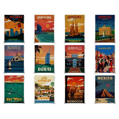 Vintage Barcelona Tourism Poster A3 Print