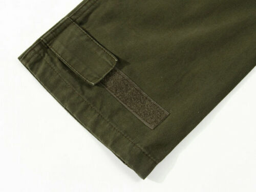 Mens Cotton Outdoor Cargo Military Pants Loose Baggy Tactical Casual Trousers SZ