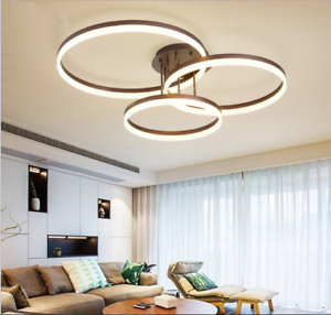 Details about Modern LED Lamps 90W Rings Chandeliers Ceiling Lights Living  Room Bedroom Lights