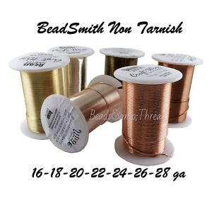 Beadsmith-Tarnish-Resistant-Craft-Wire-Choose-color