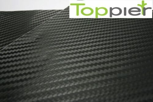 "3D Twill-Weave Flexible Carbon Fiber 48/"" x 48/""  BLACK Vinyl Strip Sheet"