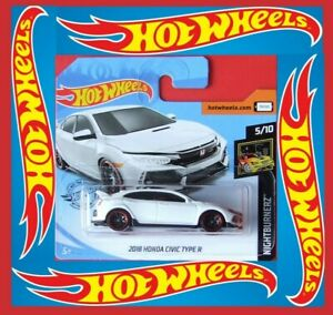 Hot-Wheels-2019-2018-HONDA-CIVIC-TYPE-R-weiss-171-250-NEU-amp-OVP