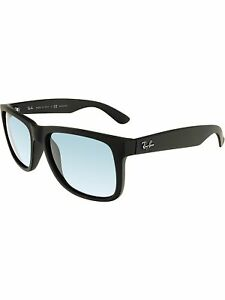 Ray-Ban-Men-039-s-Polarized-Justin-RB4165-622-2V-54-Black-Square-Sunglasses