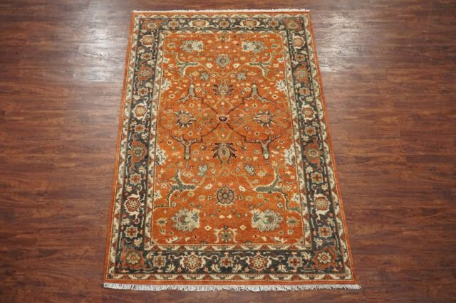 Persian 6X9 Vegetable Dyed Antiqued Mahal Hand-Knotted Area Rug Wool (5.8 x 8.11