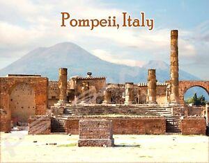 """Italy POMPEII  Travel Souvenir Photo Fridge Magnet Big Size 3.5/""""X2.4/"""""""