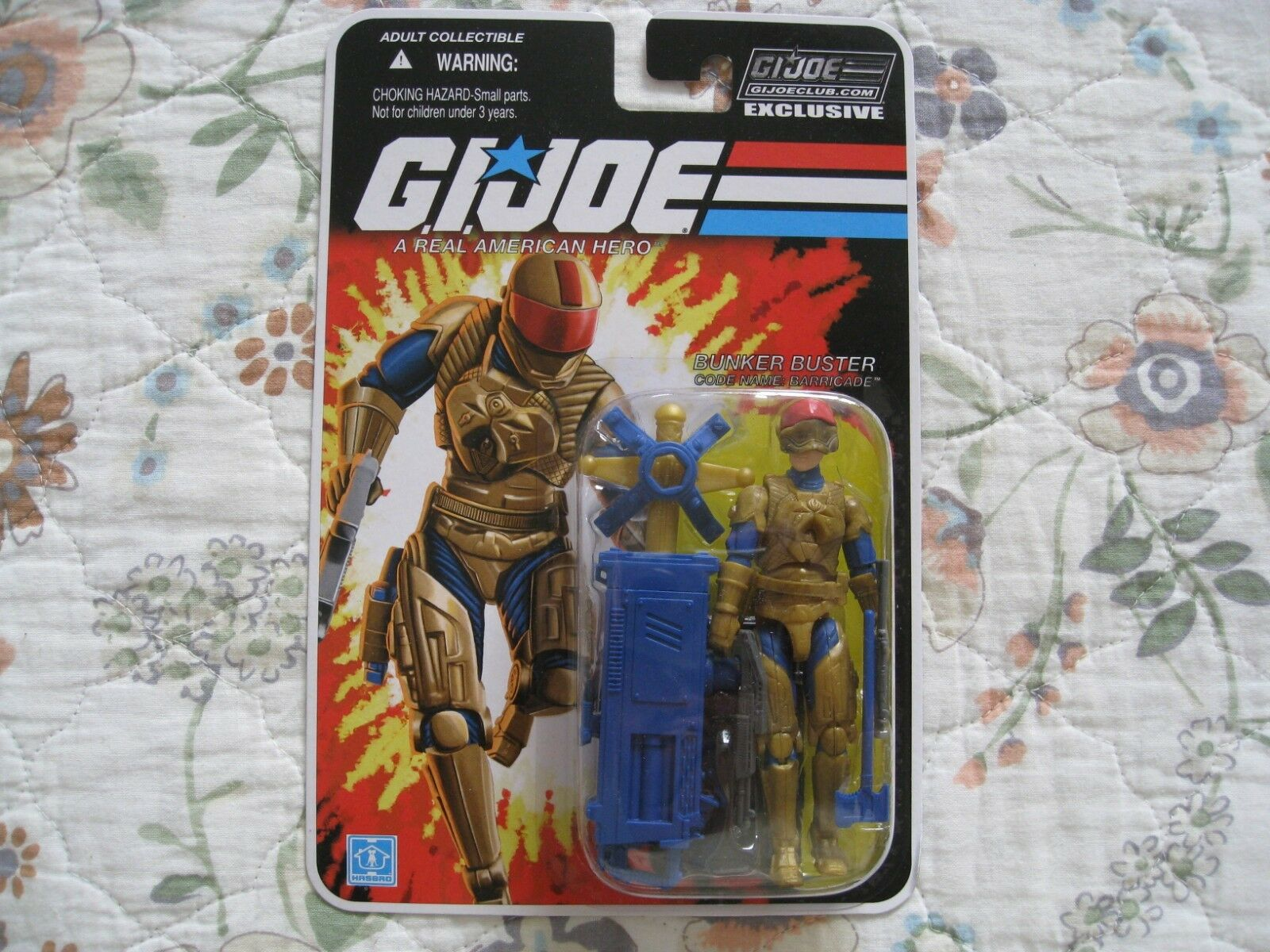GI JOE COLLECTOR'S CLUB EXCLUSIVE BUNKER BUSTER - BARRICADE