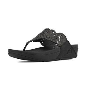 06385bfcef481 Details about Fitflop Women Flora Slide Sandal 372-001 Black