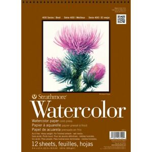 Strathmore-400-Series-Watercolor-Paper-Pads-9x12-034-9X12-034-Pad