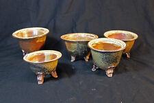 Ceramic Japanese Neofinetia pot Spotted Shino
