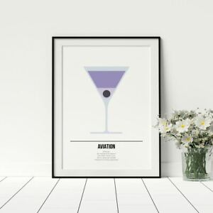 Cocktail-Print-Aviation-Cocktail-Lover-Art-Gift-For-Drinker-Kitchen-Wall-Art