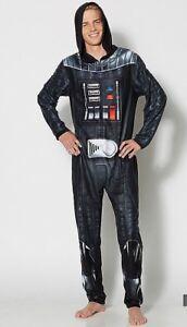 Star-Wars-Darth-Vader-Adult-Pajama-Body-Suit-Liscenced-Medium-Fleece-Costume
