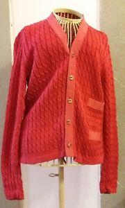 SALVATORE-FERRAGAMO-giacca-blazer-rosso-cotone-taglia-small